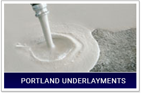 Portland Underlayments Being Poured